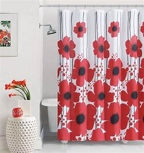 Red Poppy Shower Curtain - At Home At Home