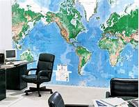 best world map wall murals Large Wall Map Printing - Large format litho printing ...