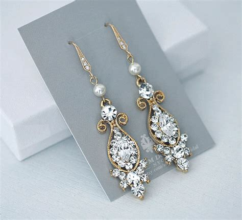 vintage inspired bridal earrings wedding jewelry