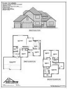 two story house plans with basement dirtcheaphouseplans entire plans for cents on the dollar compared to other dc 05002