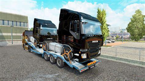 semi remorque camion porte voiture avec des camions de