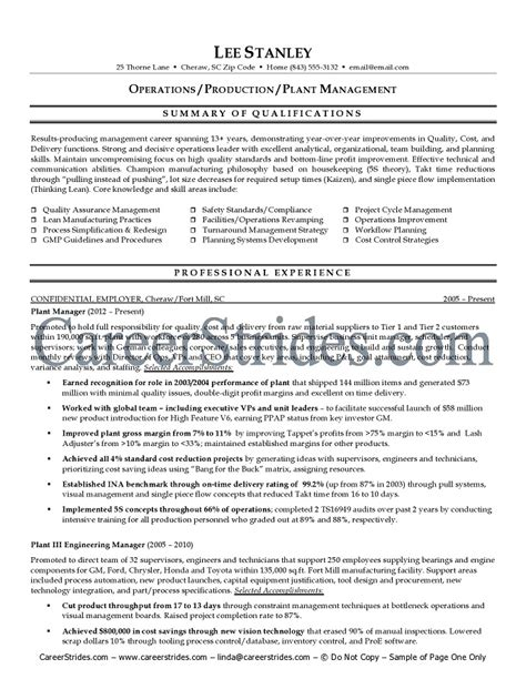 production manager resume sle production resume