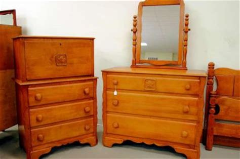 Vintage Birdseye Maple Dresser by Dining Room Chair Antique Tiger Maple Bedroom Sets Marina