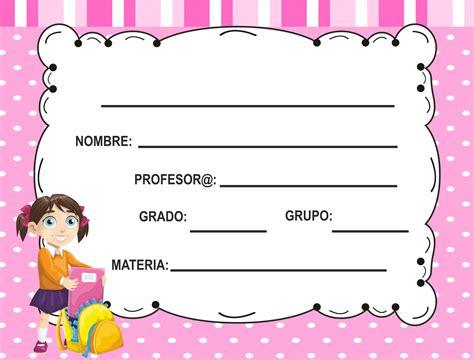 etiquetas para cuadernos BONITO PARA IMPRIMIR