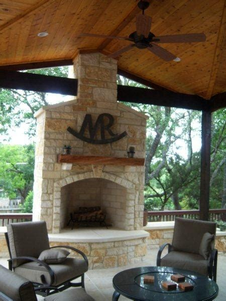 love  limestone fireplace outdoor living outdoor