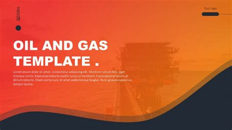 Creative Oil And Gas Presentation Free Powerpoint Template