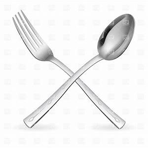 Crossed fork and spoon, 7795, Objects, download Royalty ...