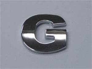 Style 6 smallest letters 75quot small chrome letters g for Small chrome letters