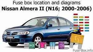 Fuse Box Location And Diagrams  Nissan Almera Ii  N16