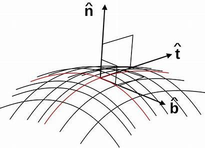 Tangent Normal Unit Binormal Vectors Vector Svg