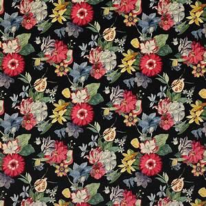 Papier Peint Grosses Fleurs : tissu ipanema velours tissus par diteur jane churchill ~ Dode.kayakingforconservation.com Idées de Décoration