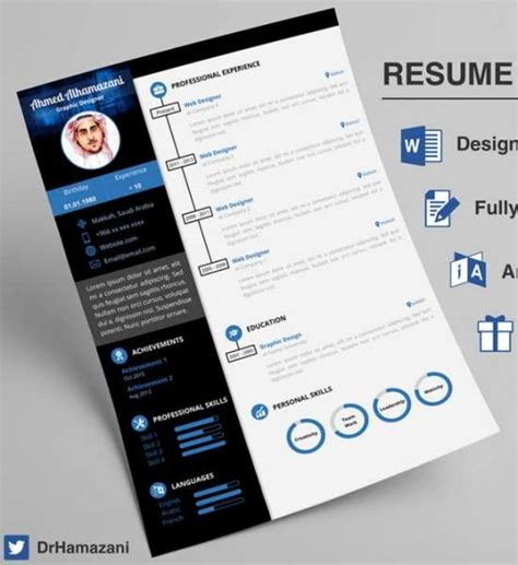 creative resume template  task list templates