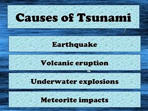 tsunami causes - DriverLayer Search Engine