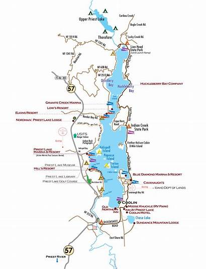 Idaho Priest Lake Jewel Crown Map Kept