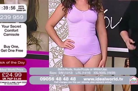 ideal world model exposes camel toe   shopping channel daily star