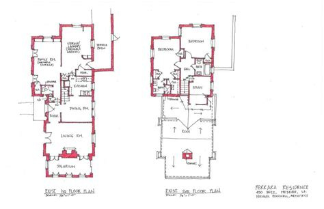 floor plans existing homes renovation of 450 betz place existing and proposed floor plans michael rouchell on