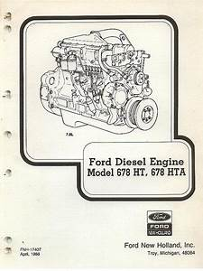 Ford Diesel Engine 678ht 678hta Parts Manual