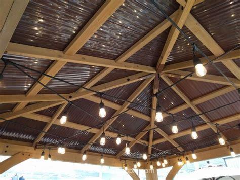 yardistry wood gazebo  aluminum roof
