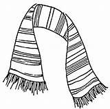 Scarf Drawing Coloring Drawings Pages Colouring Scarves Striped Draw Knit Coat Printable Play Theater Stuff Tie Easy Knitting Picolour Cool sketch template