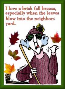 Funny Maxine Cartoons About Fall