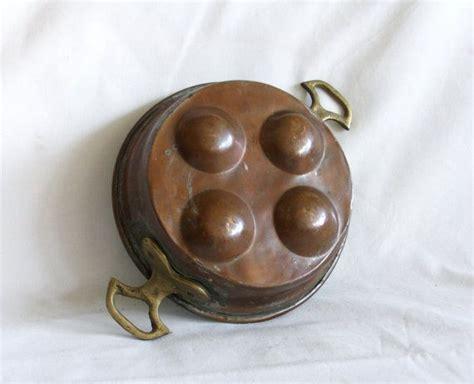 vintage copper pan indented slots  egg escargot snail etsy vintage copper pots vintage