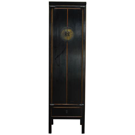 tall black storage cabinet chinese tall black lacquer cabinet for sale at 1stdibs