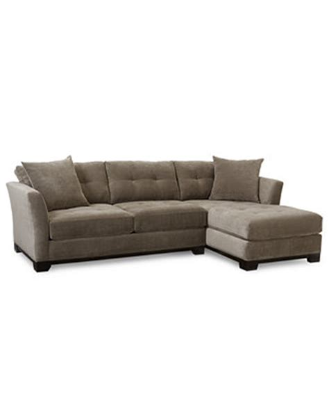 Macys Elliot Sofa by Elliot Fabric Microfiber 2 Chaise Sectional Sofa