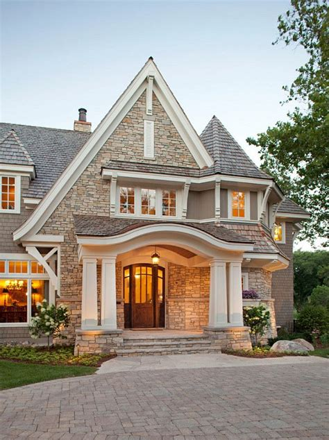 Beautiful Exterior Stone Exterior Dramatic Roof Lines