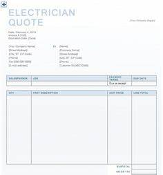 Contract Labor Invoice Template Microsoft Excel Quotation Templates Project Management