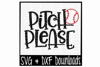 Svg Softball Baseball Pitch Please Cut Thehungryjpeg