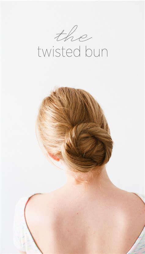 diy twisted bun hair tutorial wedding hair ideas