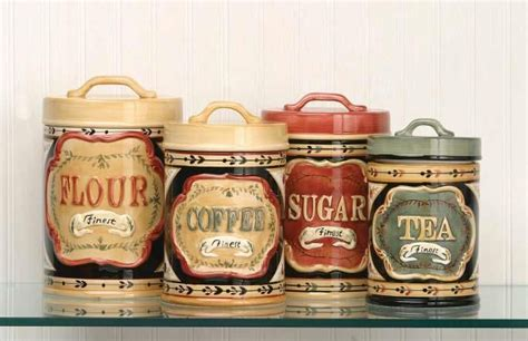 country kitchen canisters country store kitchen canister set flour sugar