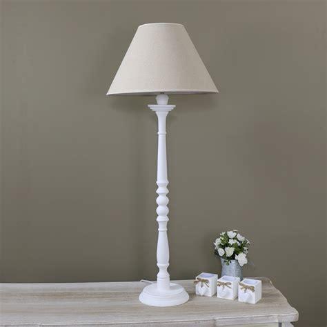 white table l shade tall white table l white l with shade melody maison