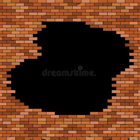 großes loch in der wand verputzen backsteinwand nahtlos stock abbildung illustration