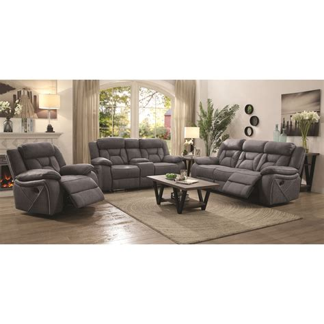 Coaster Houston Reclining Living Room Group Miskelly