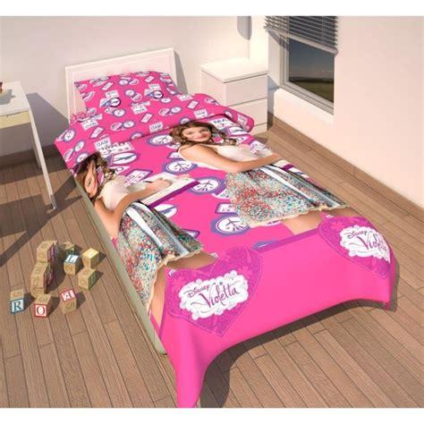 violetta housse de couette parure de lit housse de couette violetta disney achat vente parure de drap cdiscount