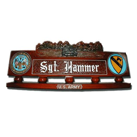wooden name signs for desk hand carved desk name plate us army tank model 01