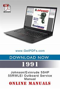 1991 Johnson  Evinrude 55hp 55rwlei Outboard Service Manual