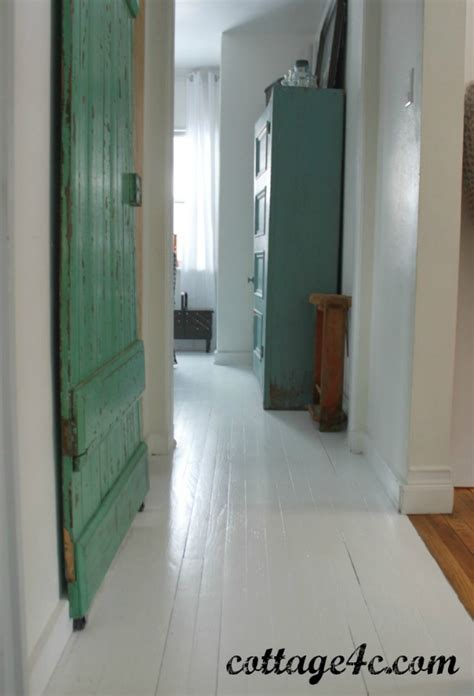 Painted White Wood Floors Cottage4c