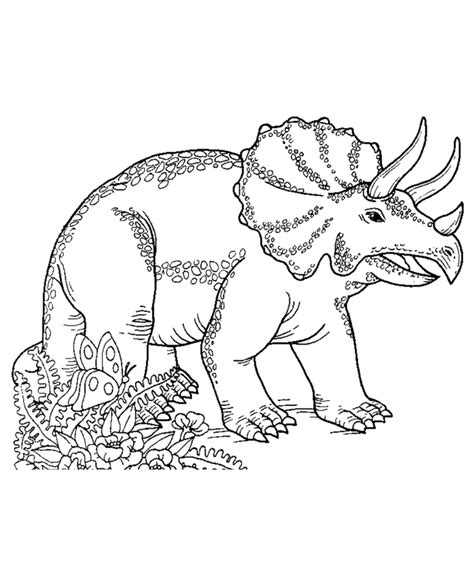 Triceratops Kleurplaat by Dinosaurs Coloring Pages Coloring Home