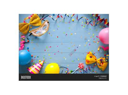 Birthday Frame Colorful Party Items Background Happy
