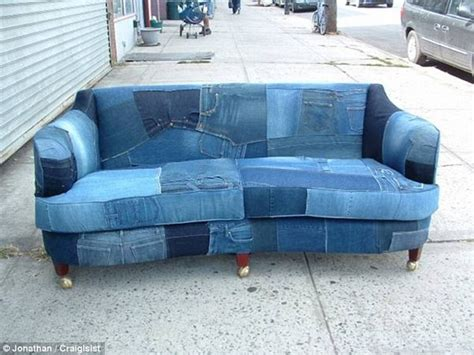 Denim Sofa Cover by Recycled Denim Sofa Covers Recycled Things