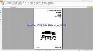 Volvo Fe Trucks Wiring Diagrams Service Manual 20018887