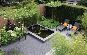 Jardin Avec Bassin : jardin de ville avec bassin et coin d tente tuin pinterest coins un and comment ~ Melissatoandfro.com Idées de Décoration