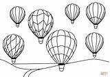Coloring Air Balloons Balloon Simple Printable Drawing sketch template