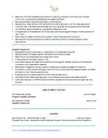 sle resume education coordinator resume sle program