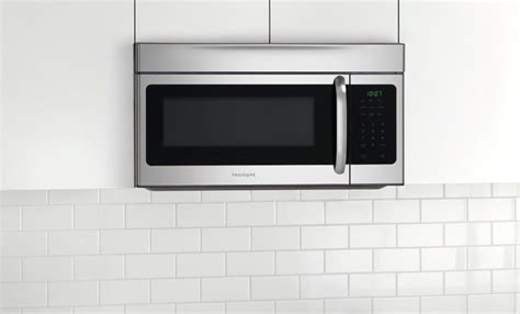 built in microwave ovens with exhaust fan frigidaire ffmv164ls 30 inch over the range microwave oven
