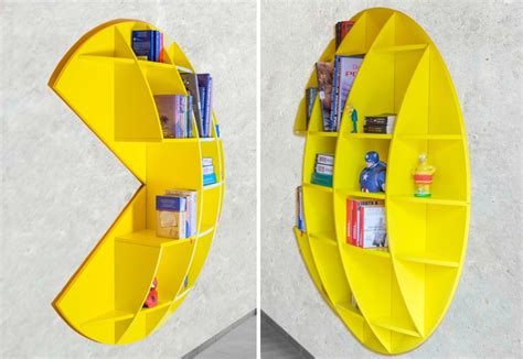 Pac Man Bookshelf Decorates Home With Gaming Culture Of 80s