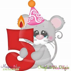 Party Animal 5th Birthday Cutting Files-Includes Clipart ...
