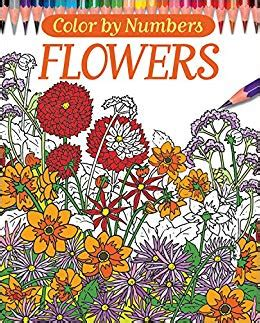 color by number books color by numbers flowers chartwell coloring books